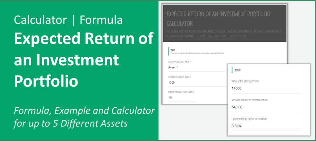 Title and Screenshot of Expected Return Calculator